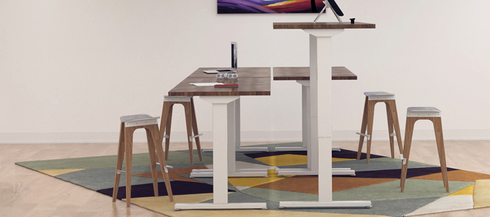 Häfele's all-new Essential – Electric Adjustable Table Base.