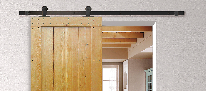 Rustic, yet smooth with Häfele barn door hardware.