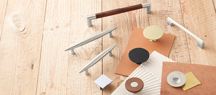 Make a bold statement with Mid-Century Modern decorative hardware from Hafele.