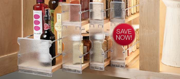 Save Now on Häfele's Pull-Out Spice Rack.