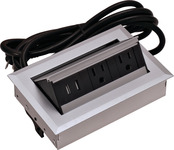 Hide-A-Dock Power/Data Station, 2 AC Outlets, 2 USB Ports product photo