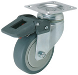 Swiveling Caster, Plate Mount, with Brake product photo