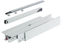 Top/Bottom Mounted Pull-Out Cabinet Slide, Partial Extension, 440 lbs product photo