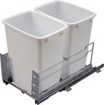 Waste Bin, Bottom Mount Frame with Double 36 qt. Bins product photo