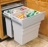 Waste Bin Pull-Out, Hailo Easy Cargo 50, Double product photo