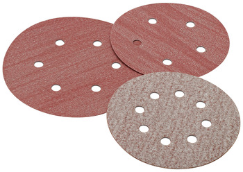 Abrasive Disc, 5 Aluminum Oxide, Hook-N-Loop, 8 Holes