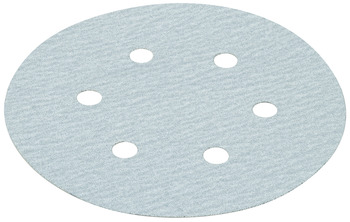 Abrasive Disc, Hook & Loop 6, Silicon Carbide, 6 Holes