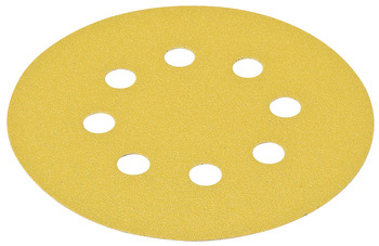Abrasive Paper Disc, 5 Aluminum Oxide, Hook-N-Loop, with 8 Holes