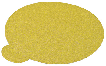 Abrasive Paper Disc, 5 Aluminum Oxide, PSA, Cloth Back, no Holes