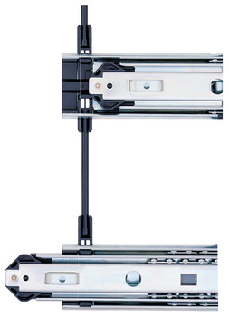 Accuride 3641/3642 Side Mount, Interlocking Drawer System, 1 Overtravel; 180 lbs Weight Capacity