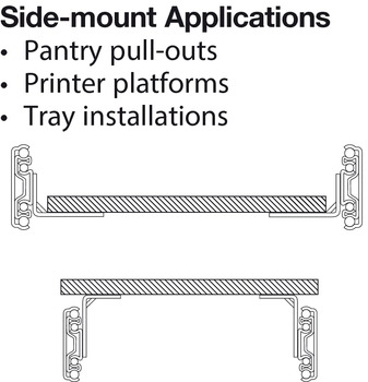 Accuride 9301 Heavy Duty Side/Bottom Mounted Slide, Full Extension; 150/500 lbs Weight Capacity