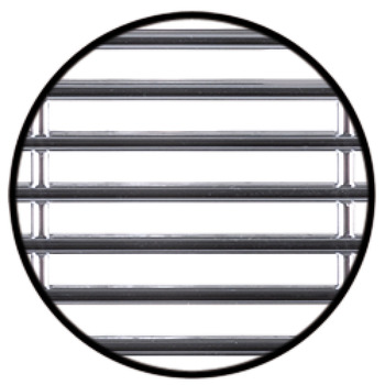 Air Ventilation Grill, Oval Recess, 45 cm² Vent Area - in