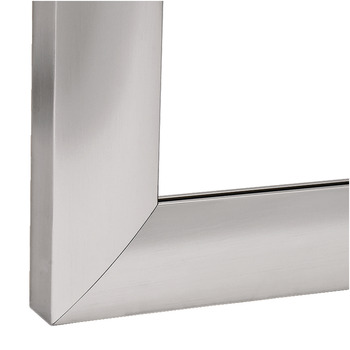 Aluminium glass frame profile, 38 x 14 mm, convex, for glass thickness 4 mm