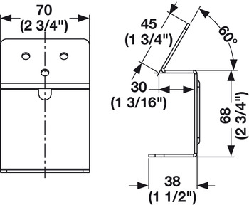 Angled Surface Mount Brackets