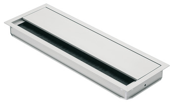 Anodized Aluminum Grommet, Rectangular with Lid and Brush