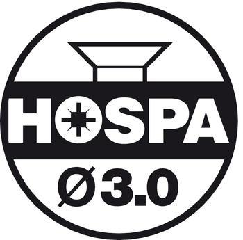 Hospa, 3.0, countersunk head