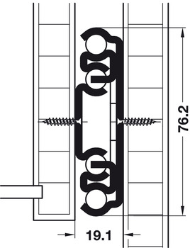 Ball Bearing Runners, Full Extension, Accuride 9308, Side/Surface Mounted, Weight Capacity 500 lbs