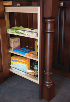 Base Cabinet Filler Pull-Out, with Grass Elite Undermount Slides