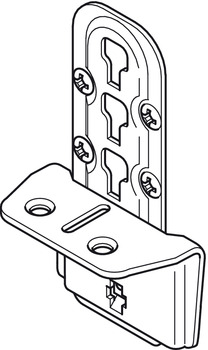 Bed Connector, for Central-Tie Bar and Slatted Frame Supports