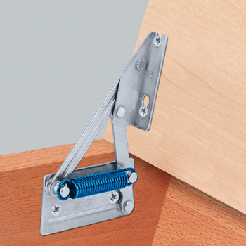 Bench Seat Hinge, for Light-Weight Seat Tops, with Spring