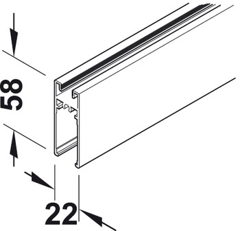 Bottom Frame Profile, Aluminum