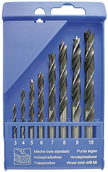 Brad Point Drill Bit Set, 8 pcs.