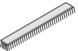 Brush Seal, for Clip-On Fascia