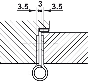 Butt hinge, Startec, for flush interior doors up to 120 kg