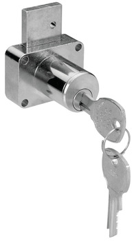 Cabinet Drawer Lock, Keyed Alike,1 3/8 Cylinder