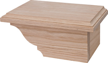 Cabinet Foot, Traditional, 4 x 4 7/8 x 8 1/2
