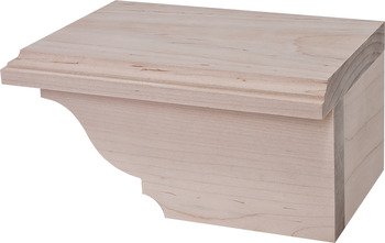 Cabinet Foot, Traditional, 4 x 7 3/4 x 4 7/8