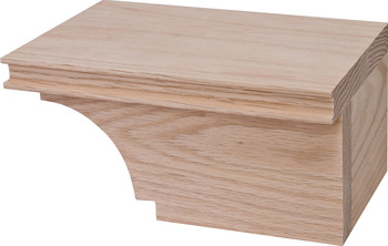 Cabinet Foot, Transitional, 4 x 7 3/4 x 4 7/8