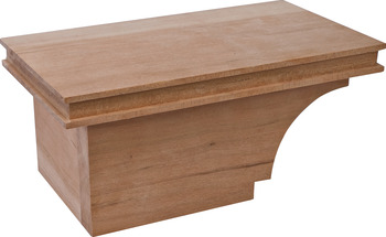 Cabinet Foot, Transitional, 4 x 8 1/2 x 4 7/8