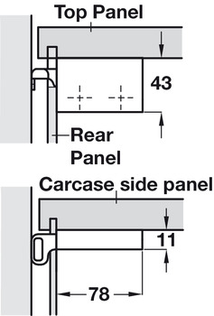 Cabinet Hanger, Screw Fixing, Scarpi-4
