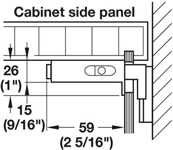 Cabinet Hanger, Screw-Mounted, 440 lb. Load Capacity, 2 5/16 length