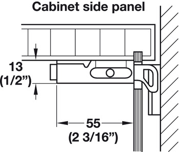 Cabinet Hanger, Screw-Mounted