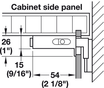 Cabinet Hanger, Screw Mounted