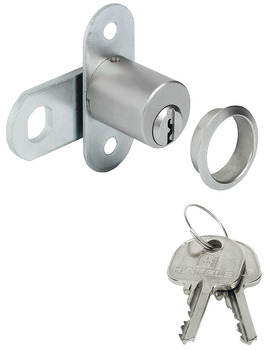Cam Lock, with Pin Tumbler Cylinder, Screw-On Plate