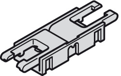 Clip connector, Häfele Loox5 for LED strip light monochrome 8 mm (5/16)