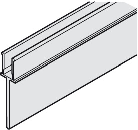 Clip-in Skirt, For double running track, pre-drilled, 10 x 42 mm (W x H)