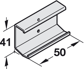 Clip-on Adapter for Wood Fascia, EKU Combino 60 H Inslide