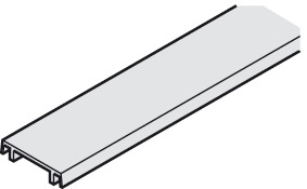 Clip Profile, For mounting rail and double running track, 25 x 6 mm (1 x 1/4)