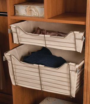 Cloth Basket Liner, for Wire Closet Basket with Full Extension Slides