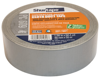 Cloth Duct Tape, PC 609®, Contractor Grade
