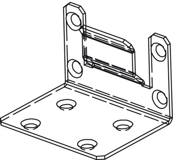 Concealed End Bracket to Mount Header and Upper Track, Components for Slido Pocket Door