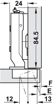 Concealed Hinge, 110º Opening Angle