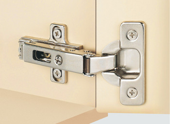 Concealed Hinge, Häfele Duomatic 120°, half overlay mounting/twin mounting