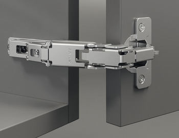 Concealed Hinge, Häfele Duomatic 165°, half overlay mounting/twin mounting
