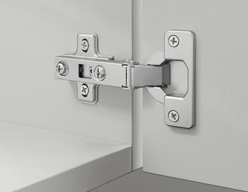Concealed hinge, Häfele Metalla A 110°, half overlay mounting/twin mounting