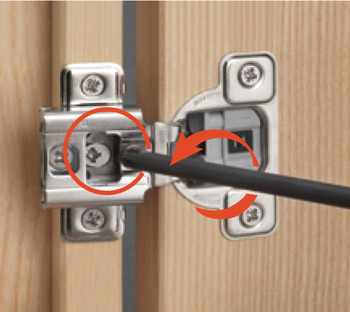 Concealed Hinge, Salice Excenthree 3-Cam, 106° Opening Angle, Soft Close, 1/2 Overlay